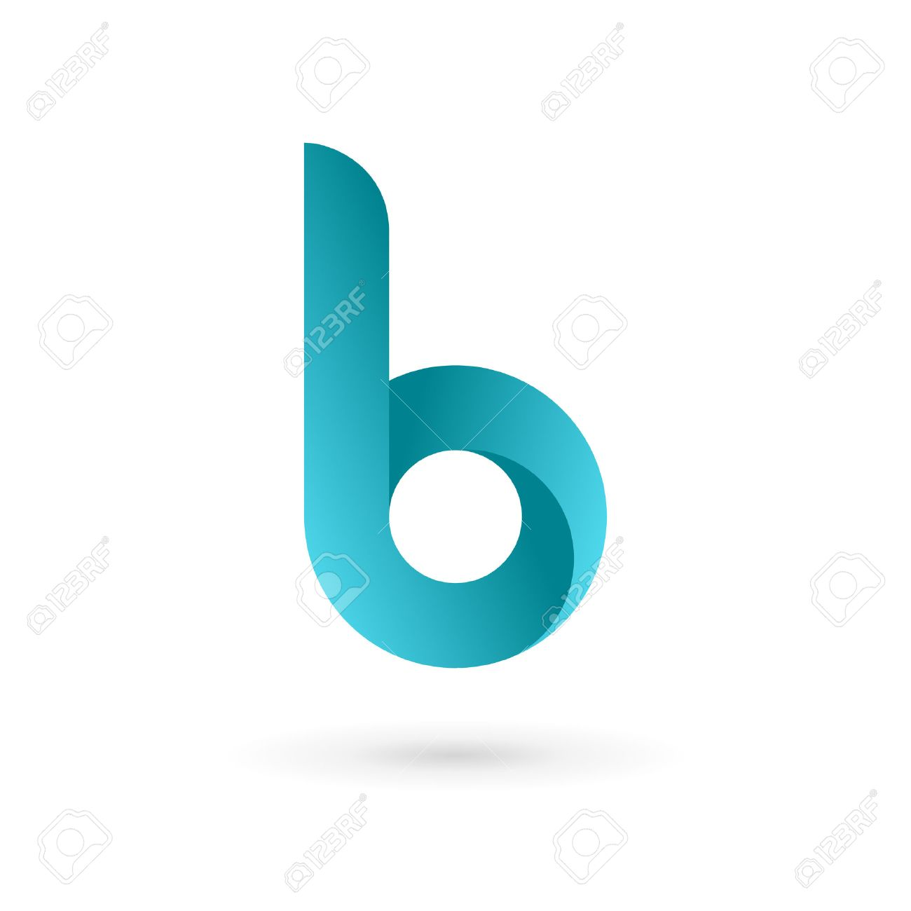 letter b logo icon design template elements vector color sign stock vector 32592492