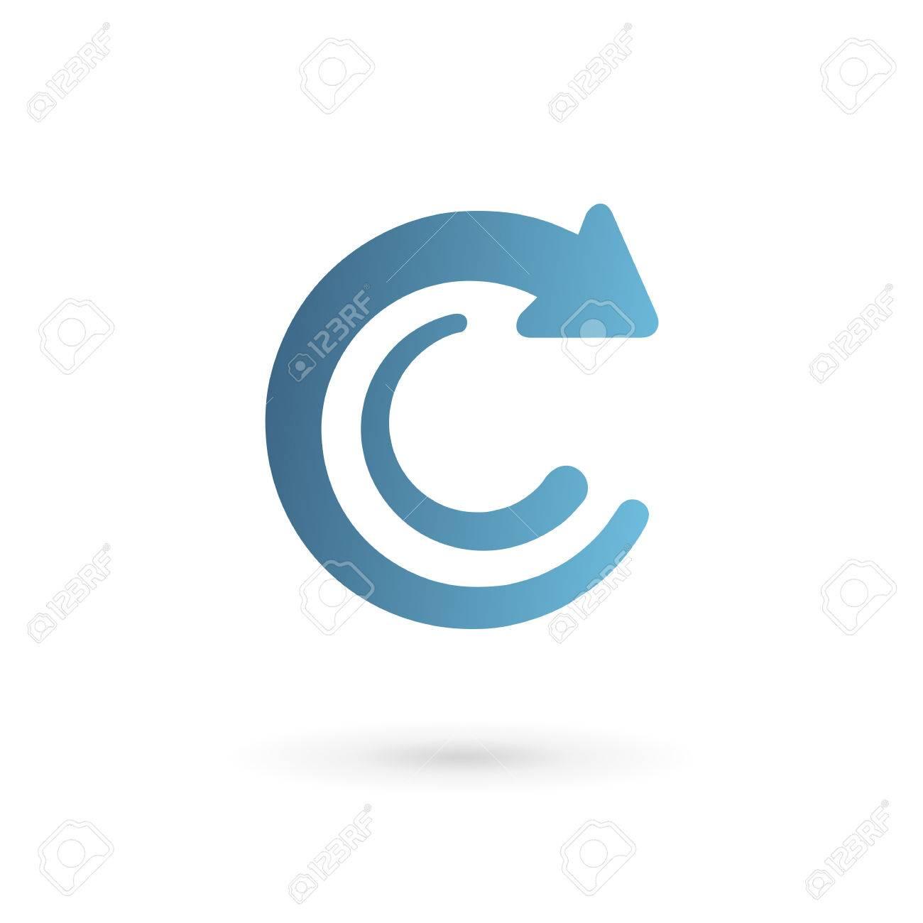 Letra C De Flecha Logo Icono Elementos De Plantilla De Diseño ...