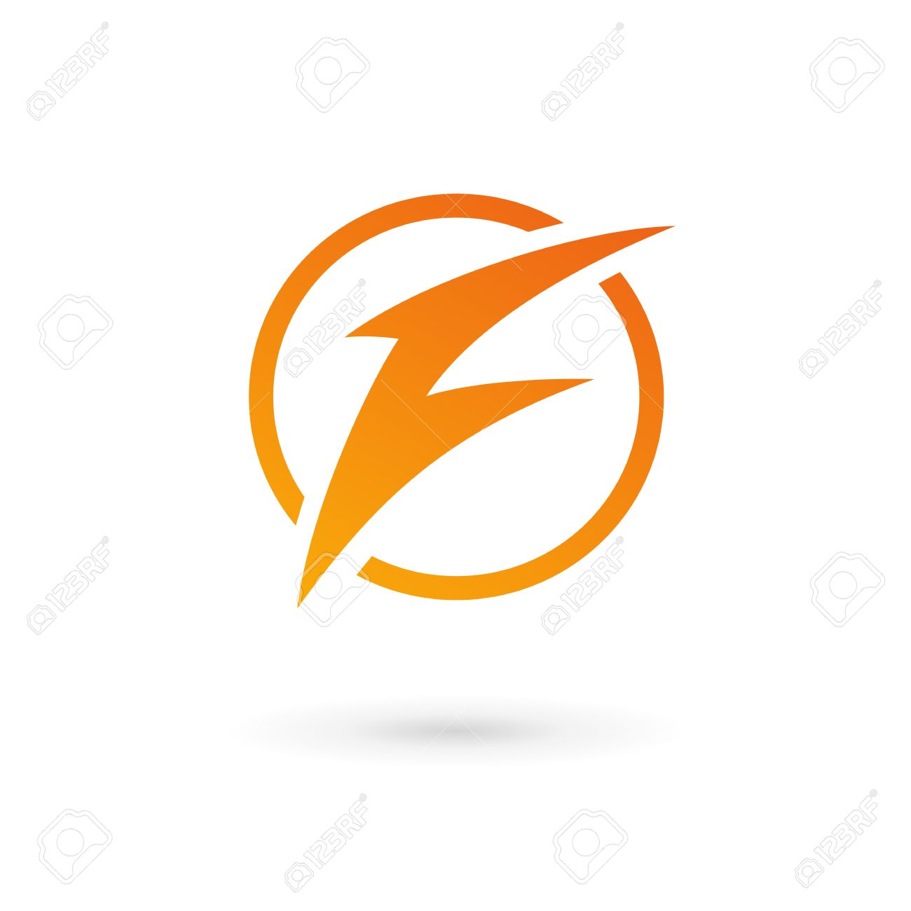 Letter F Lightning Logo Icon Design Template Elements Royalty Free