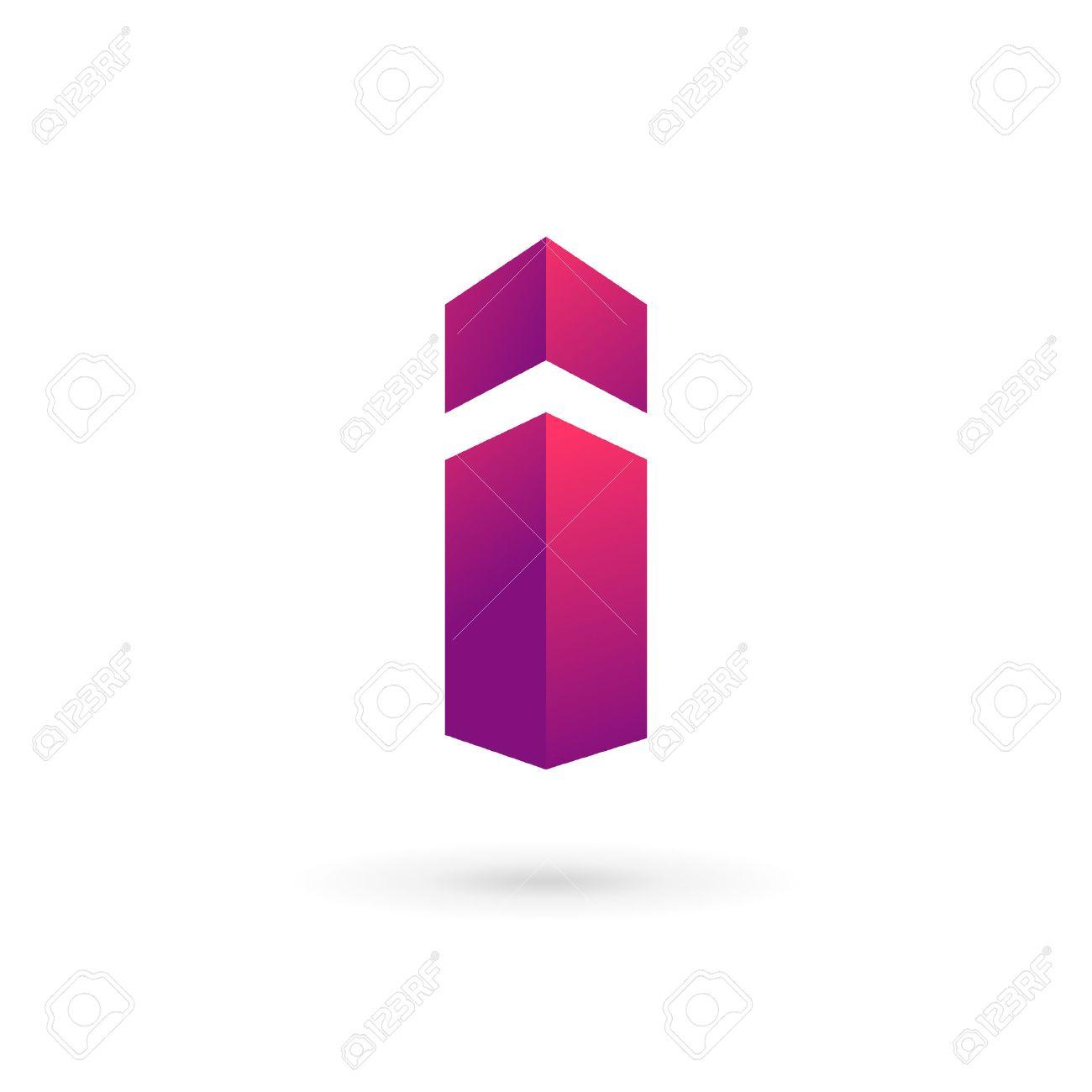i Foto de archivo - Letra I logo icono elementos de plantilla de diseño.  Vector signo de color.