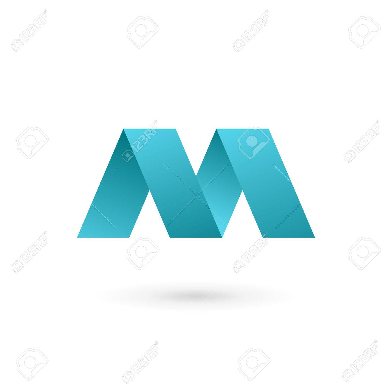 Letter M Logo Icon Design Template Elements Stock Vector