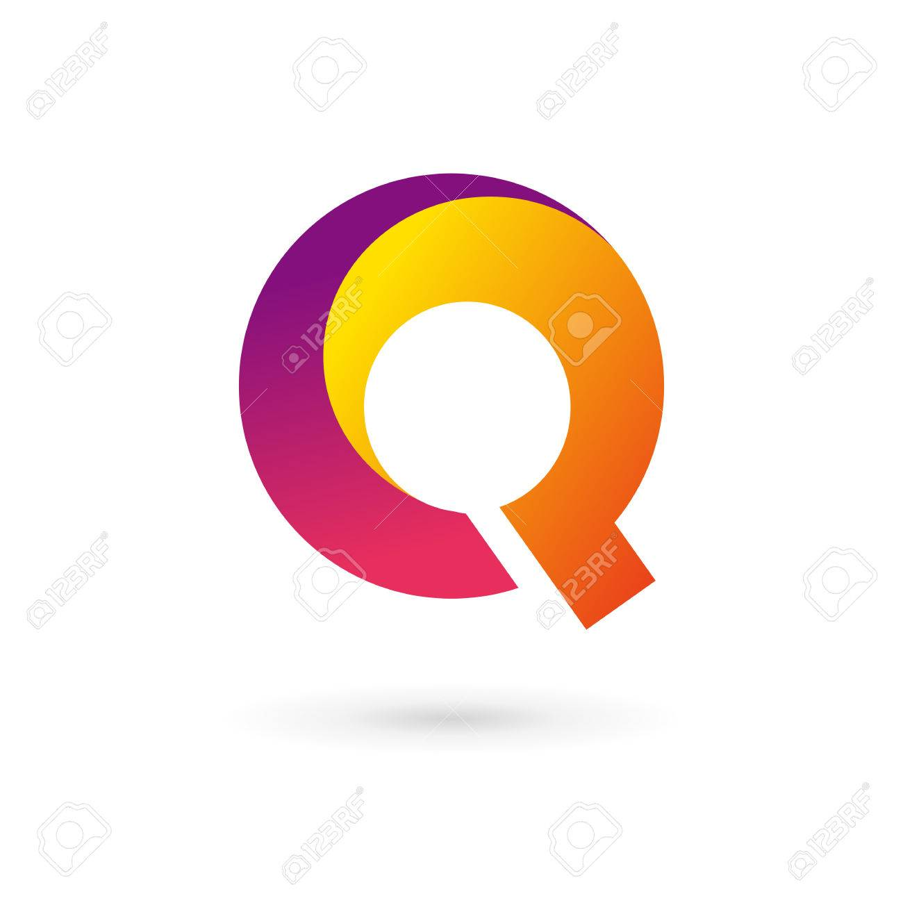 letter q logo icon design template elements royalty free cliparts