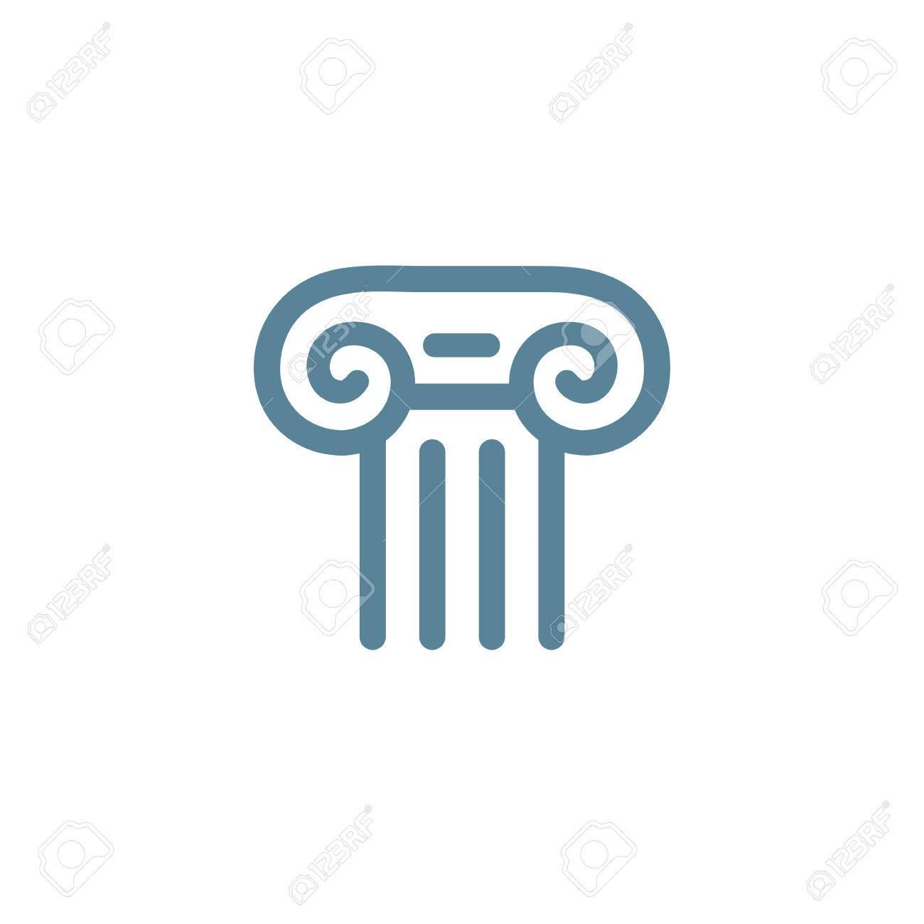 Letra T Romanos Logo Columna De Elementos De Plantilla Icono Del ...