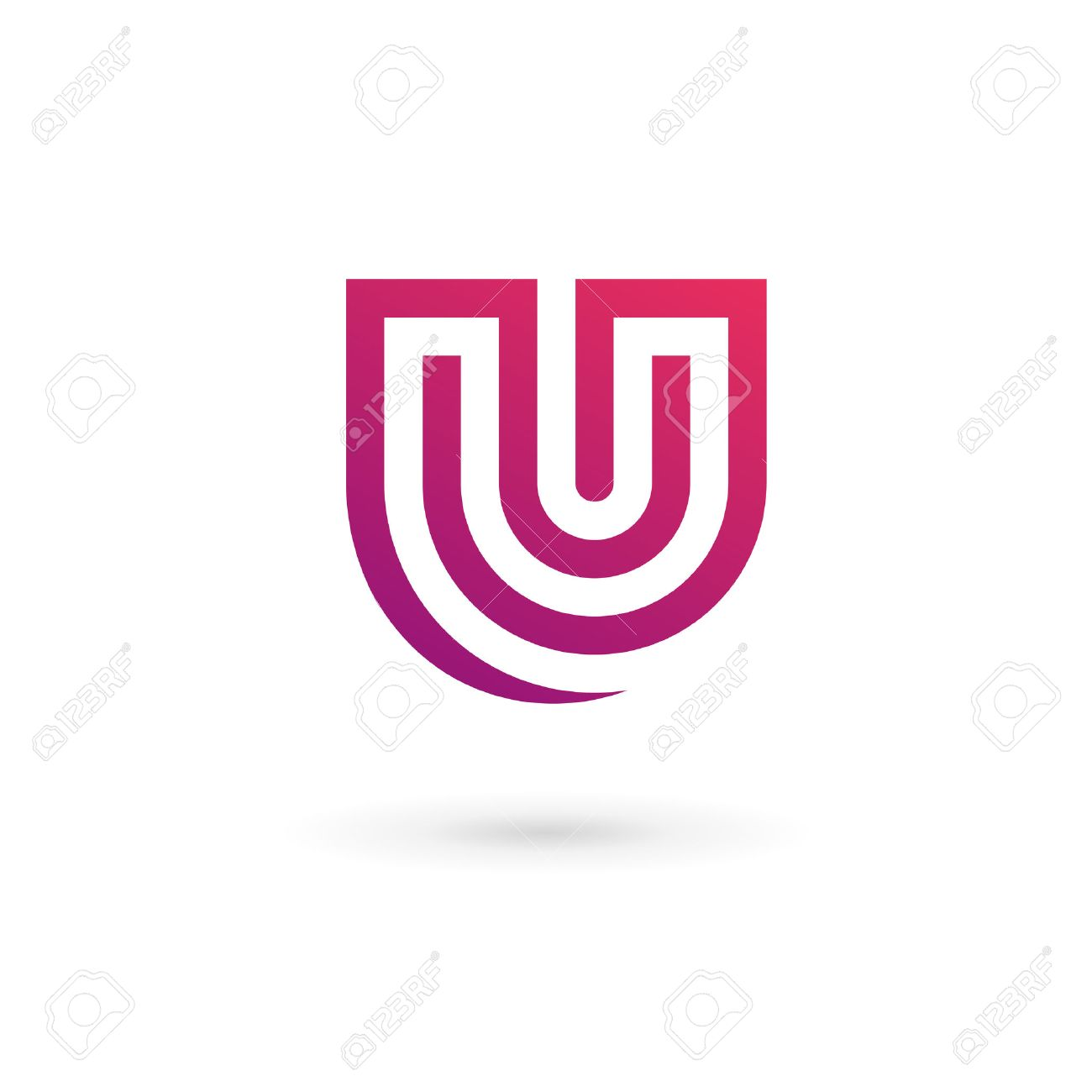 Letter U Logo Icon Design Template Elements Royalty Free Cliparts