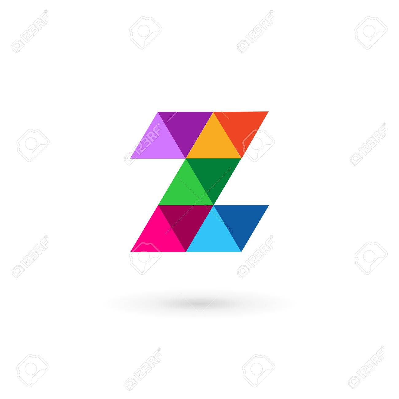 letter z mosaic logo icon design template elements royalty free