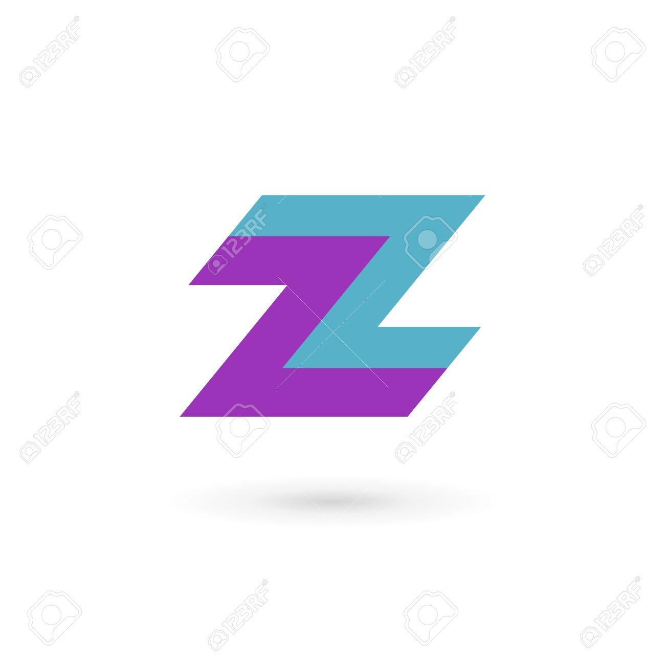 letter z logo icon design template elements royalty free cliparts