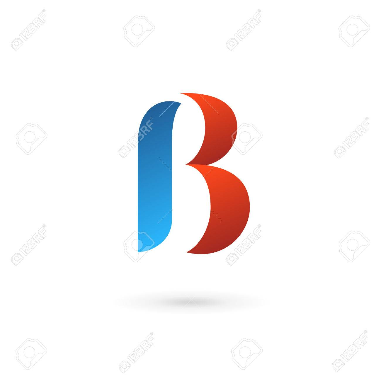 letter b icon design template elements stock vector 35516625