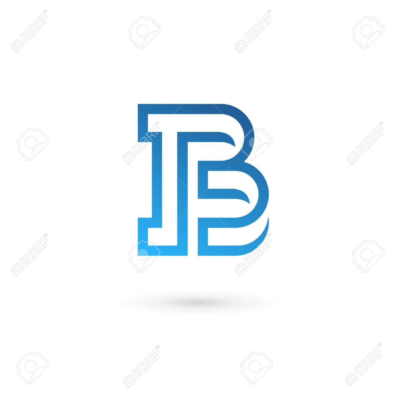 Letra B Elementos De Plantilla Icono Del Diseño Ilustraciones ...