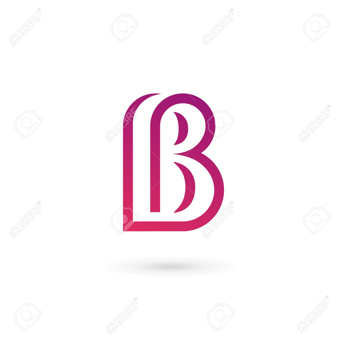 letter b icon design template elements stock vector 35516628