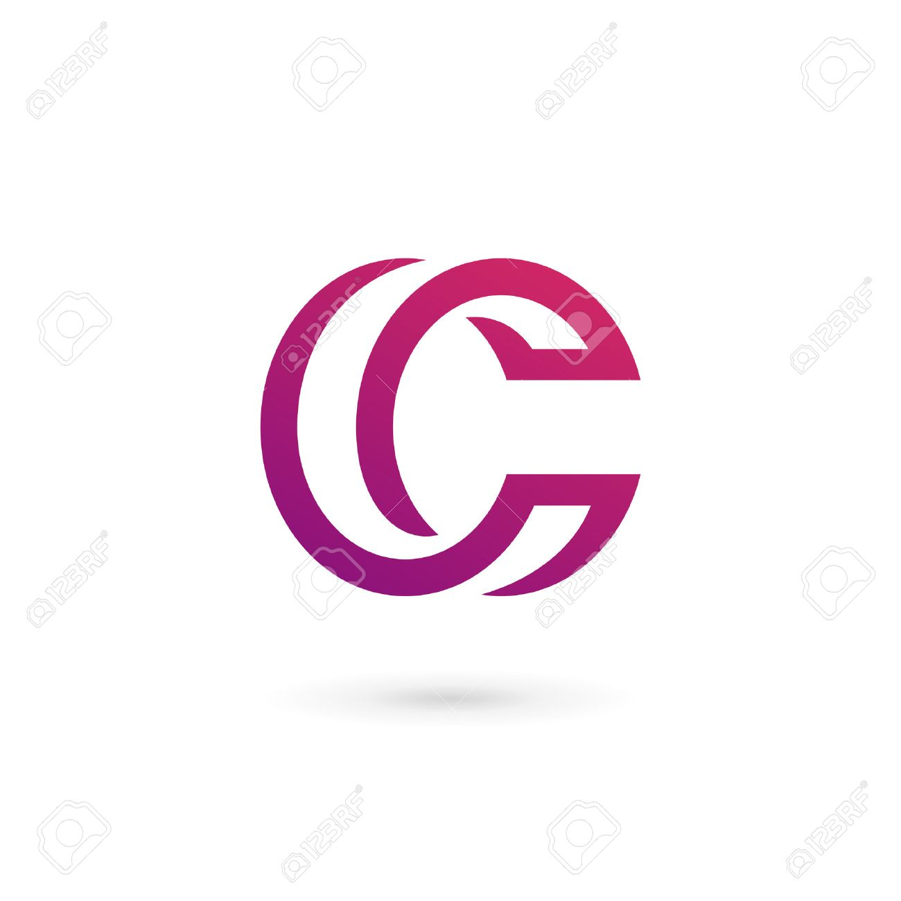 Letter C Logo Icon Design Template Elements Royalty Free Cliparts