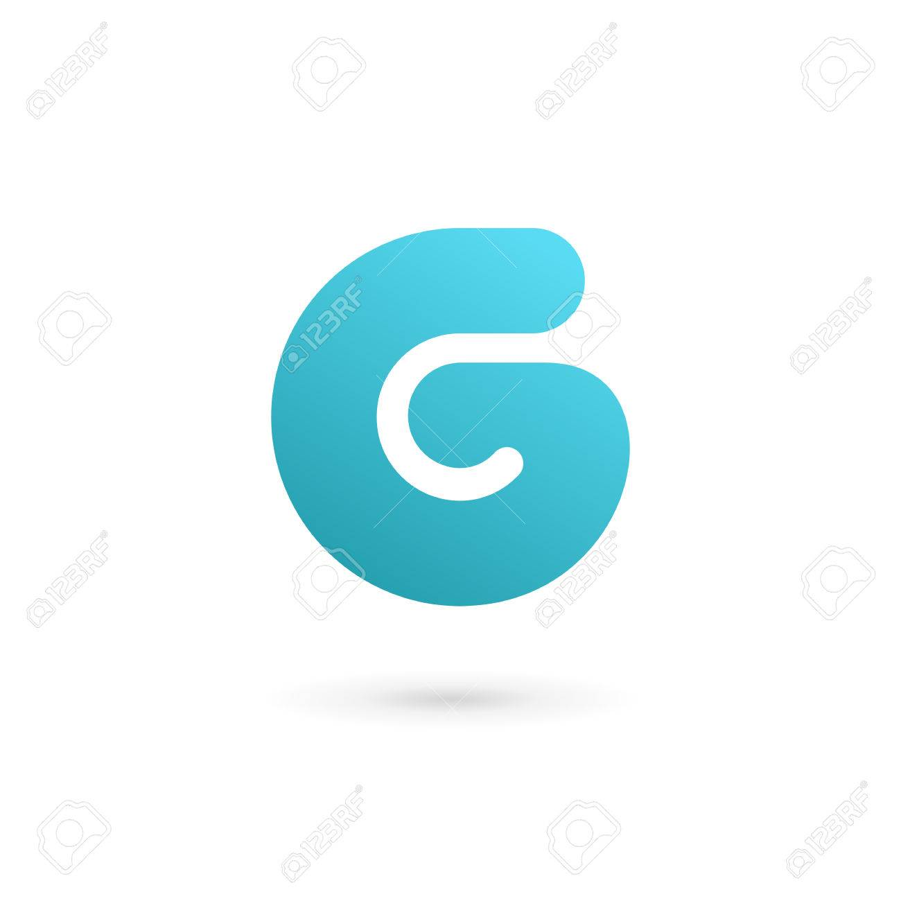 letter g number 6 icon design template elements royalty free
