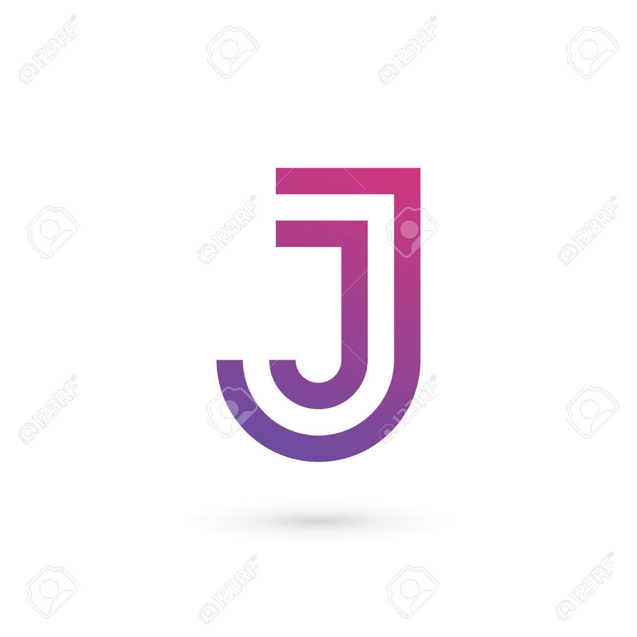 Letra J Logo Icono Elementos De Plantilla De Diseño Ilustraciones ...