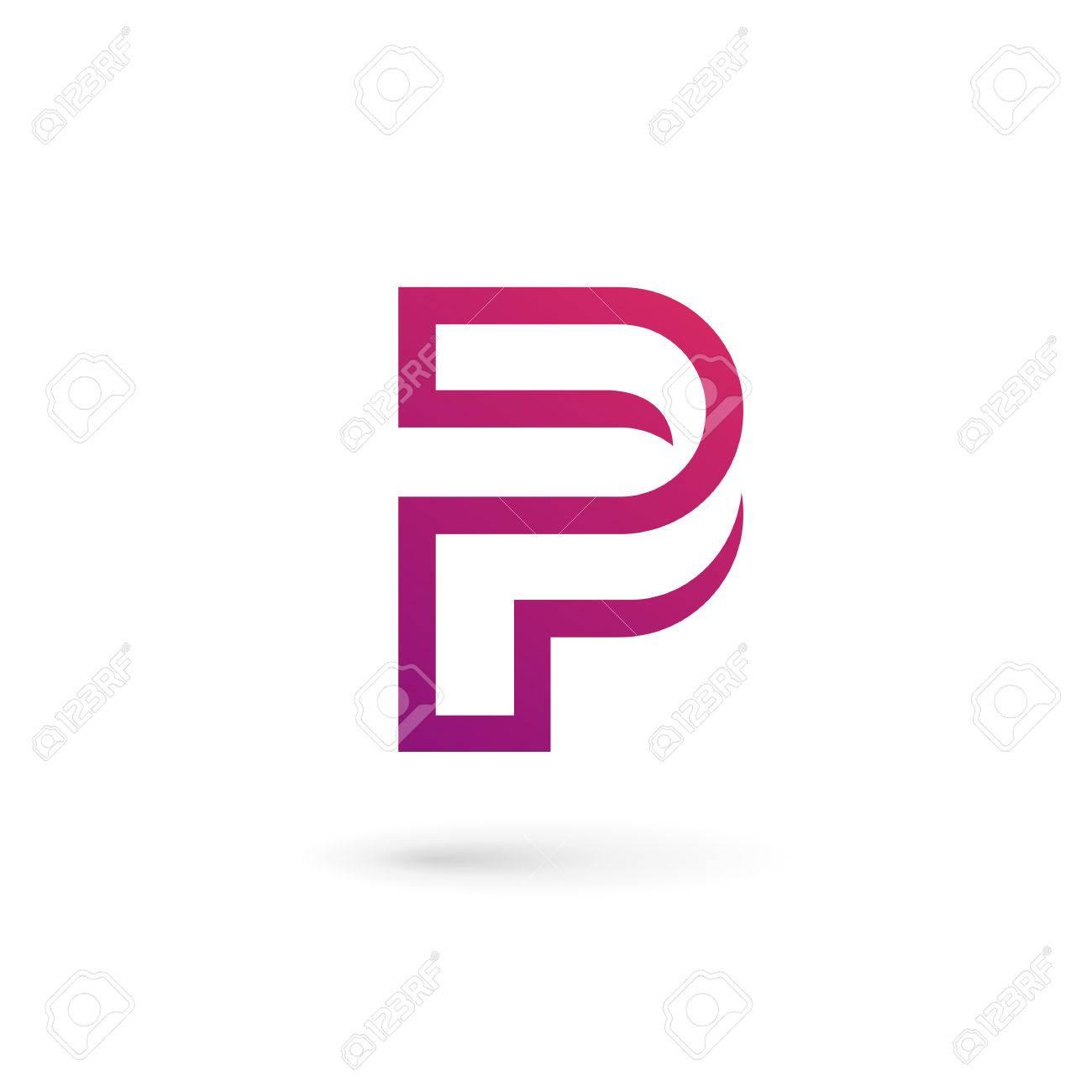 Letra P Logo Elementos De Plantilla Icono Del Diseño Ilustraciones ...
