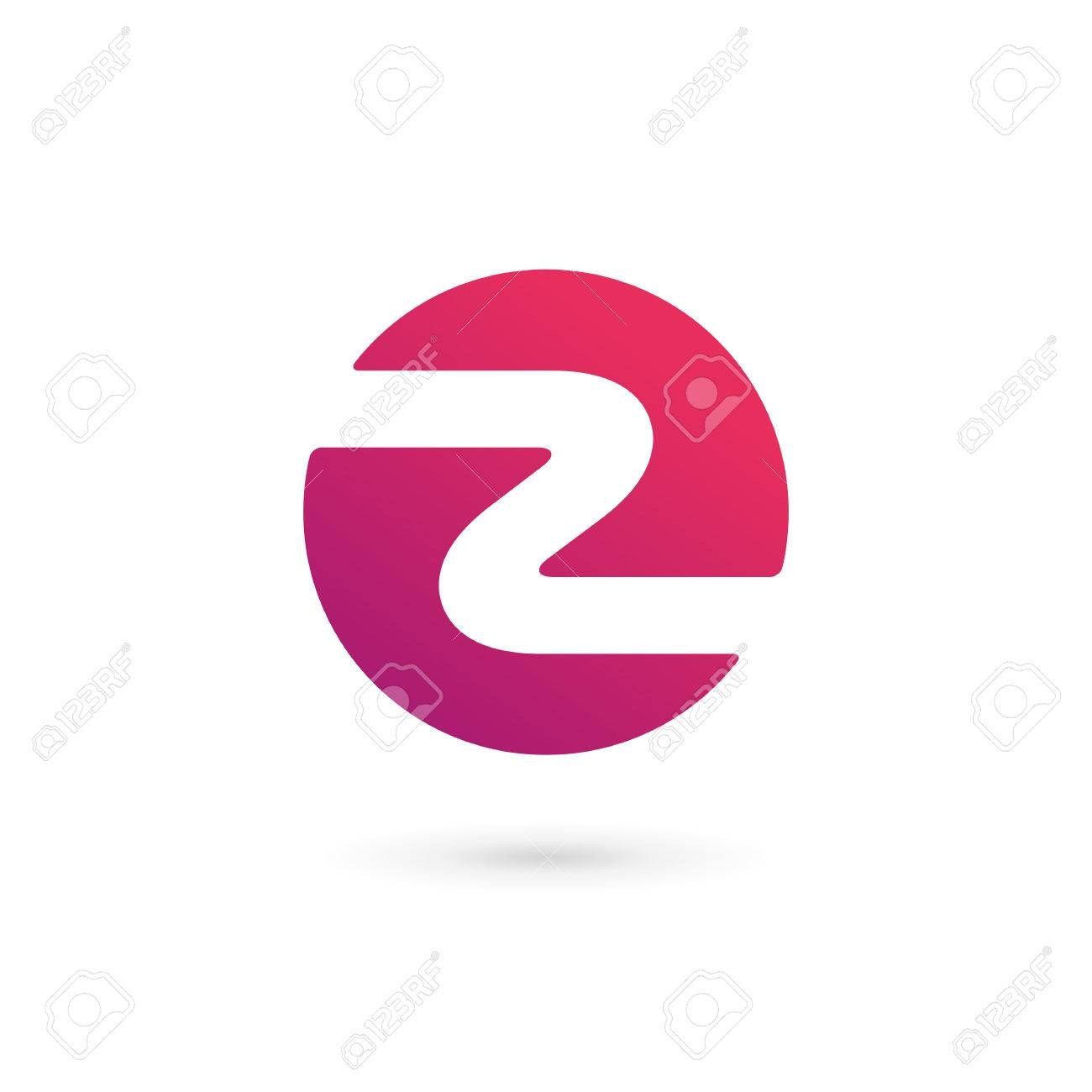 letter z number 2 logo icon design template elements royalty free