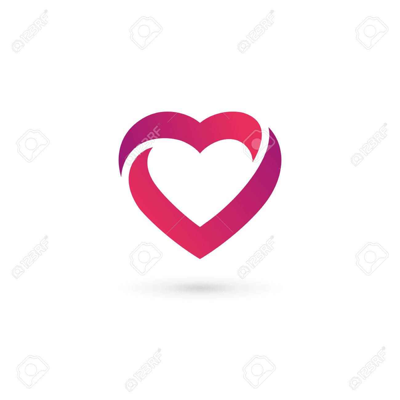 Heart Symbol Icon Design Template. May Be Used In Medical, Dating ...