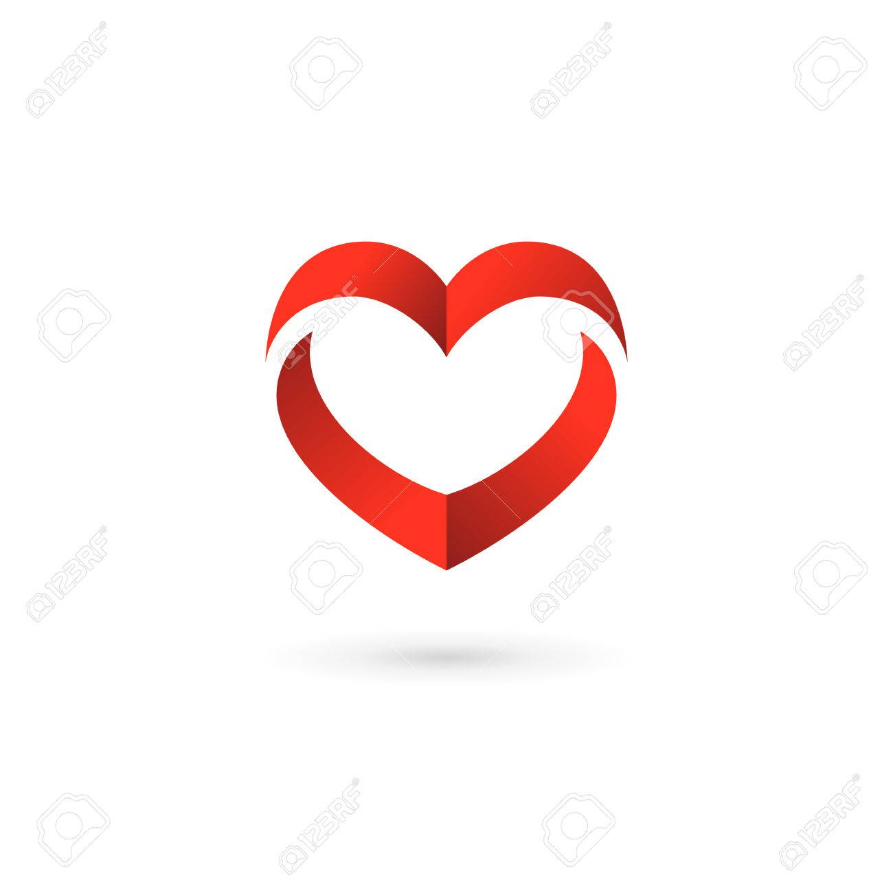 Heart Symbol Logo Icon Design Template. May Be Used In Medical ...