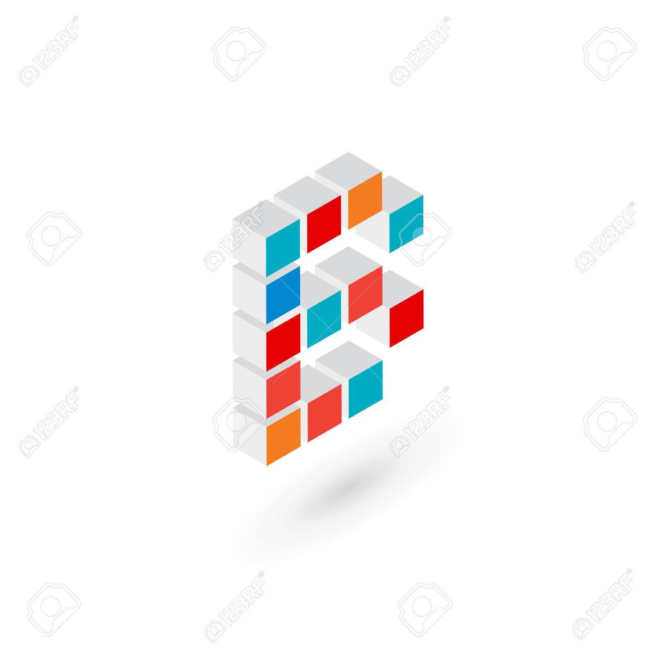 B Icono Elementos De Plantilla De Diseno De Letras Del Cubo 3d