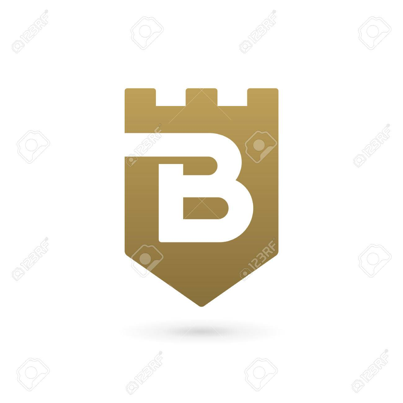 Letter B Shield Logo Icon Design Template Elements Royalty Free ...
