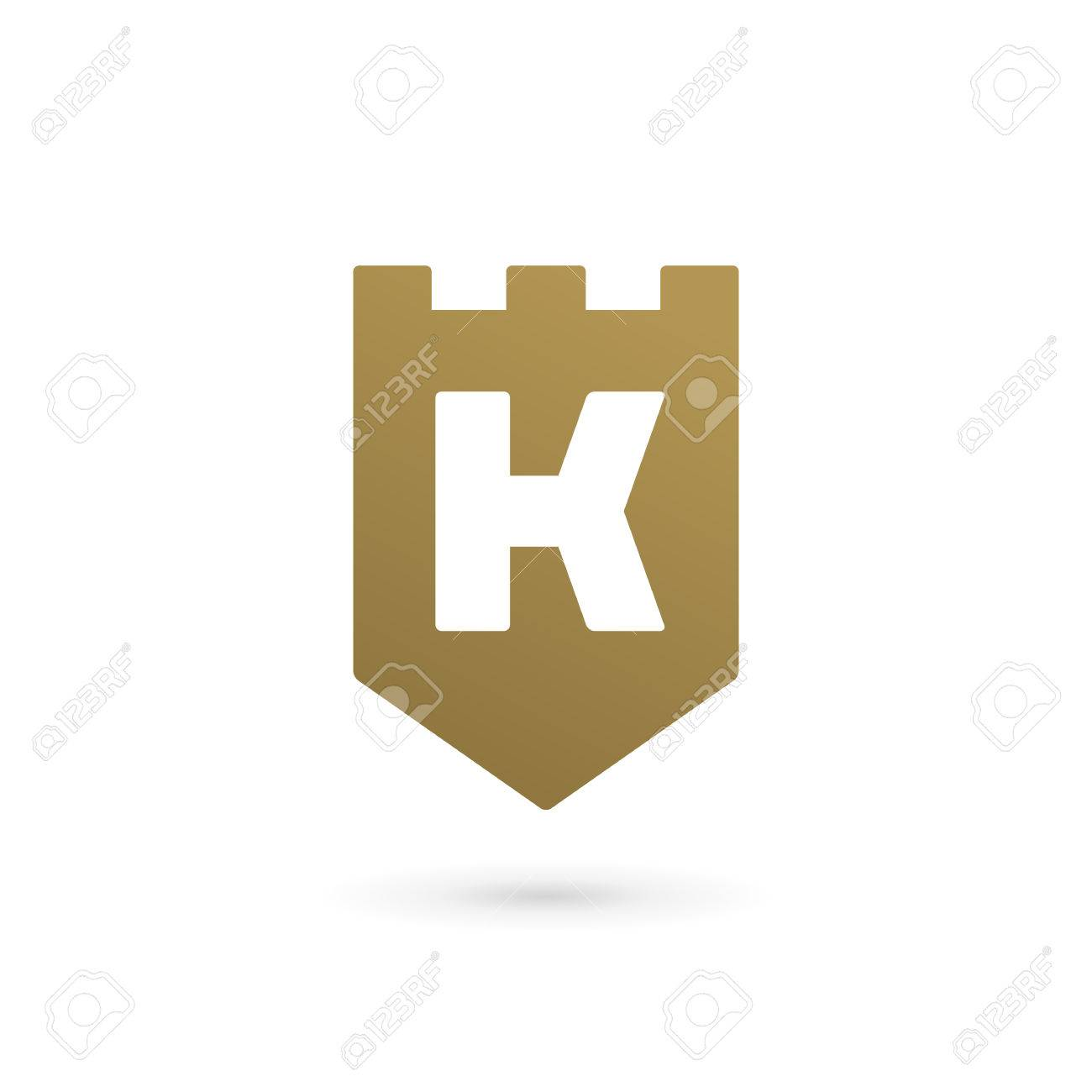 Letter K Shield Logo Icon Design Template Elements Royalty Free ...