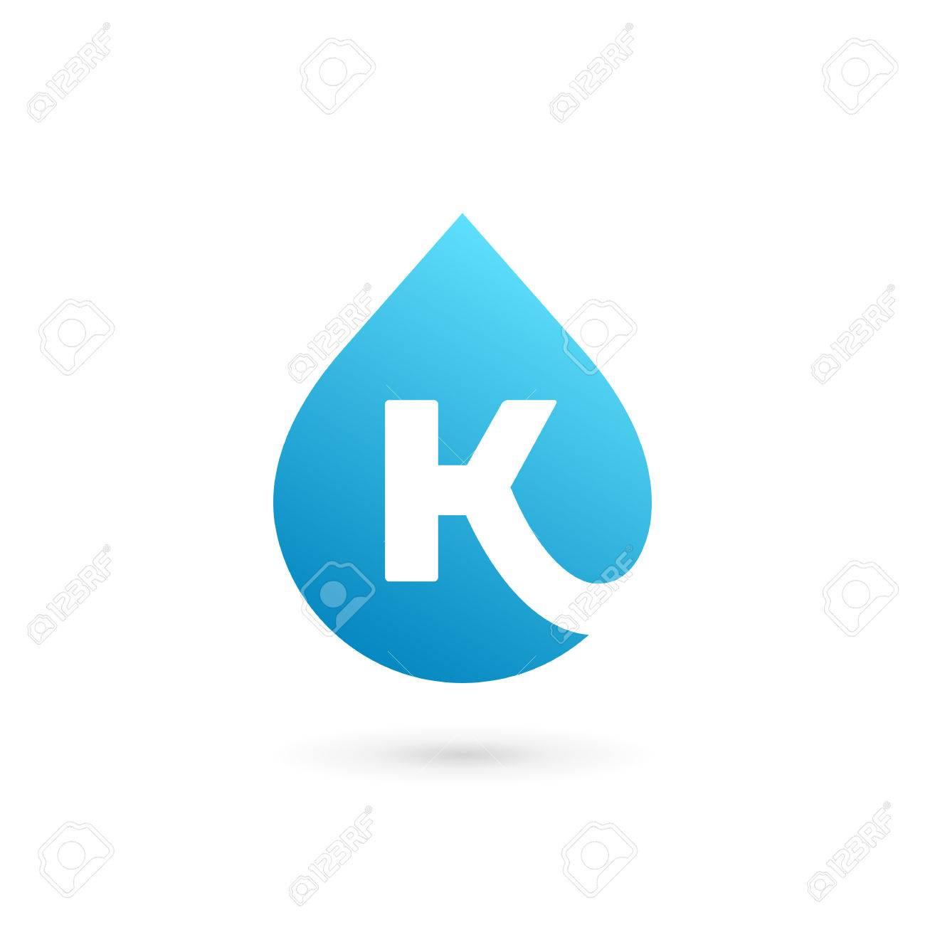letter k water drop logo icon design template elements stock vector 75492416