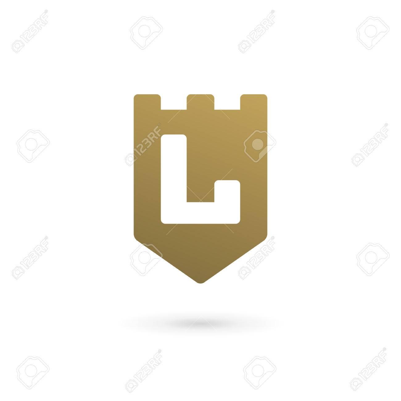 letter l shield logo icon design template elements stock vector 78360401