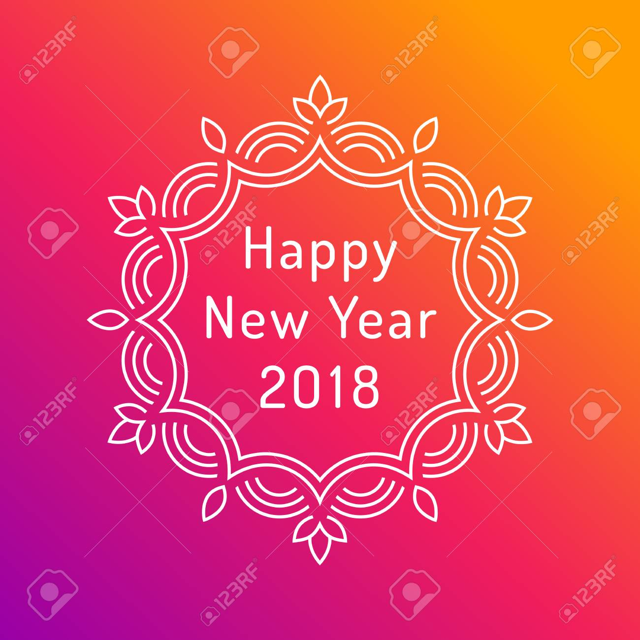 Happy new year 2018 greeting card design royalty free cliparts happy new year 2018 greeting card design stock vector 89830928 m4hsunfo
