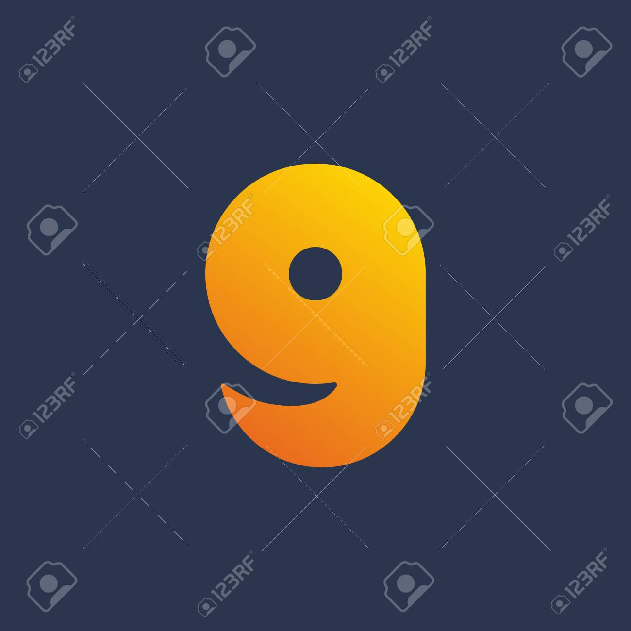 letter g number 9 smile logo icon design template elements stock vector 96747550