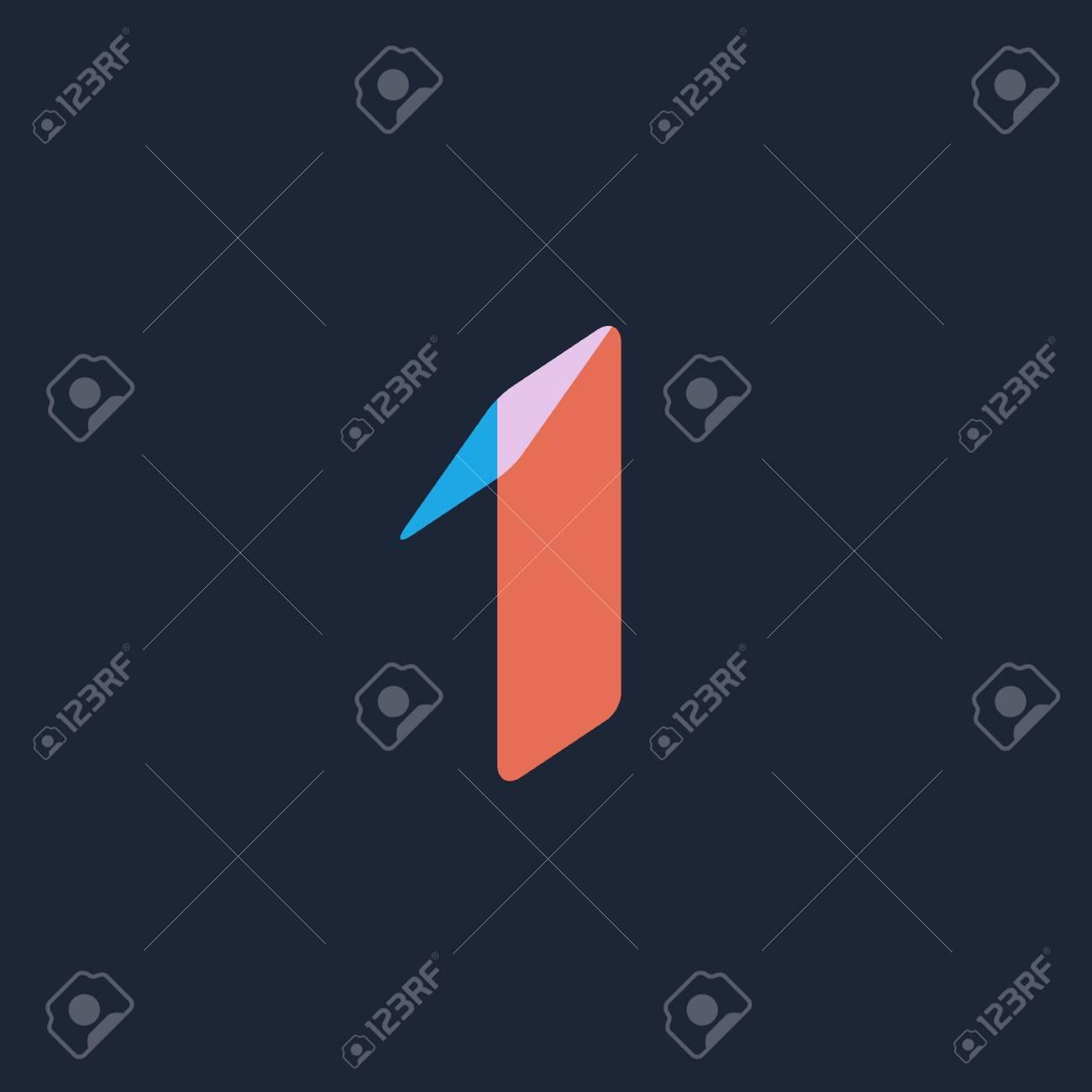 number 1 logo icon design template elements ロイヤリティフリー