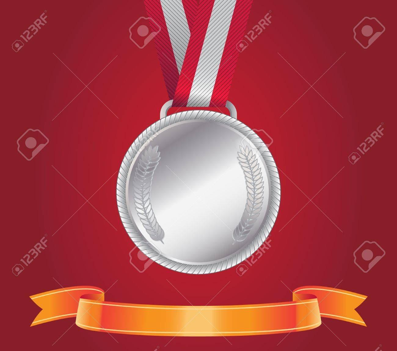 Silver Medal Stock Vector - 15998250