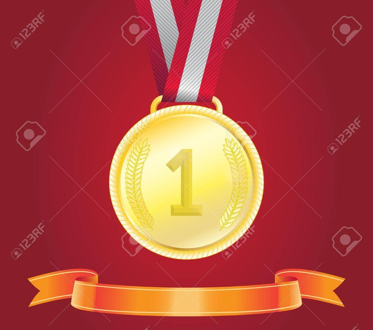 Golden Medal, vector Stock Vector - 18124130