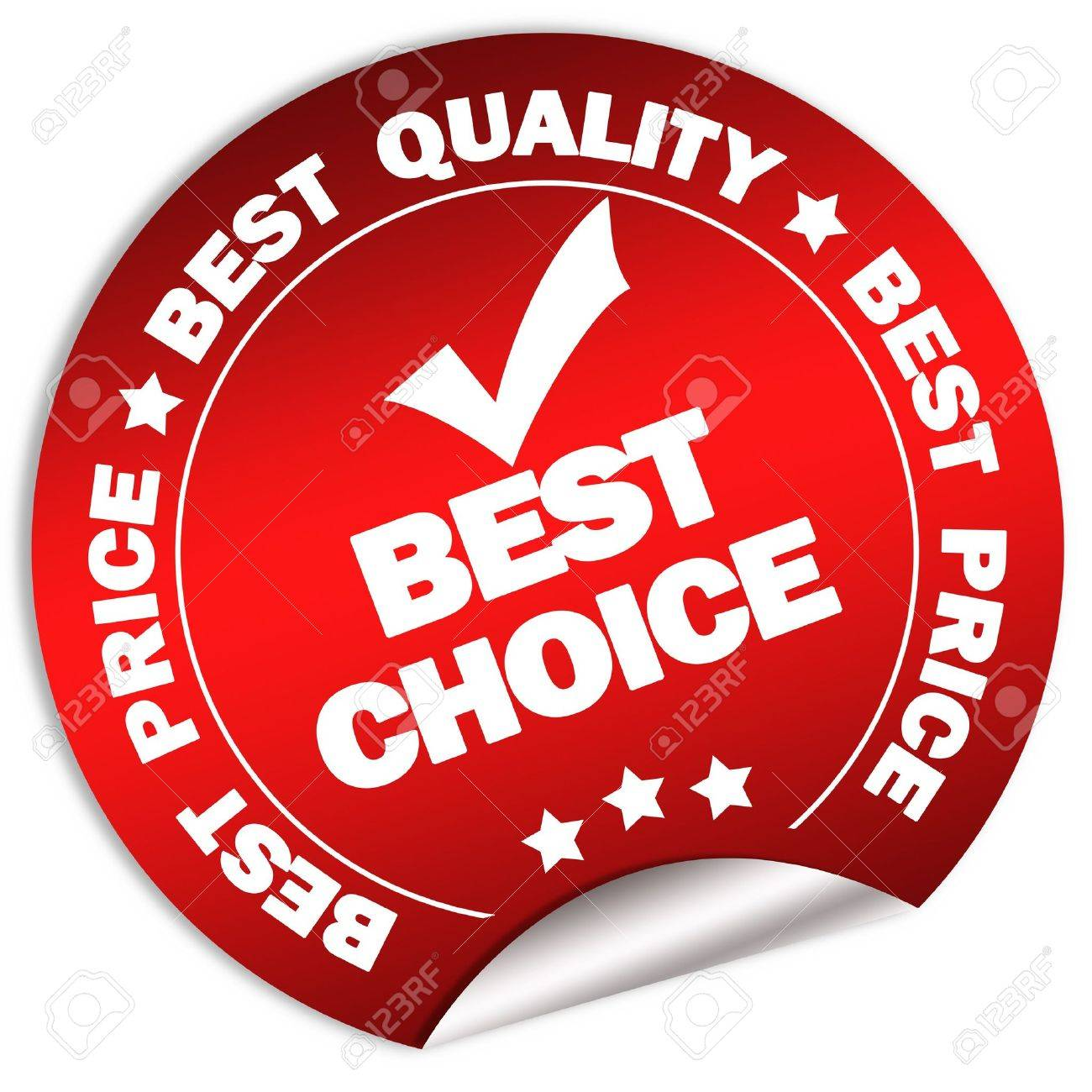 Best choice and price guarantee sticker Stock Photo - 6166685
