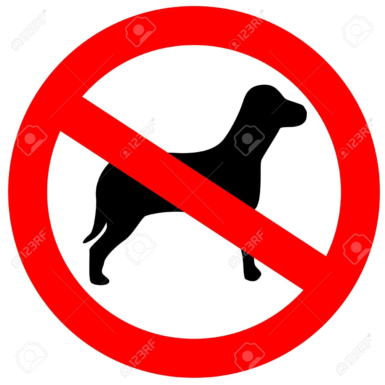 No dogs allowed Stock Photo - 6182235