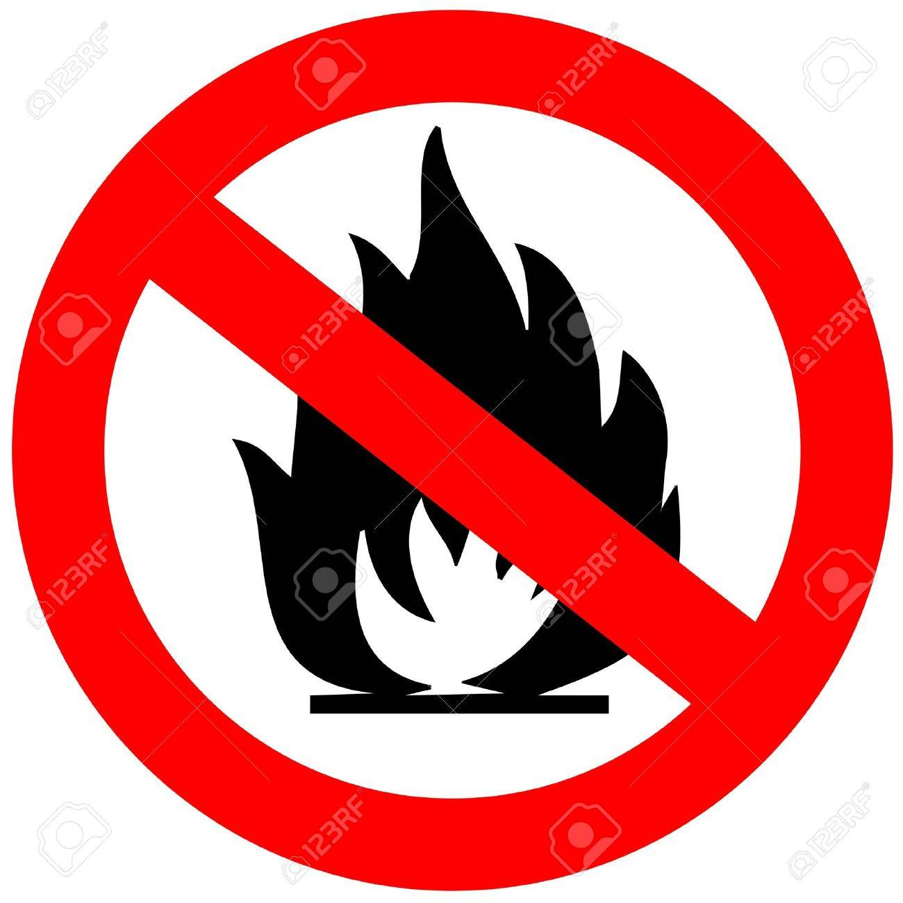 No fire sign Stock Photo - 6190707