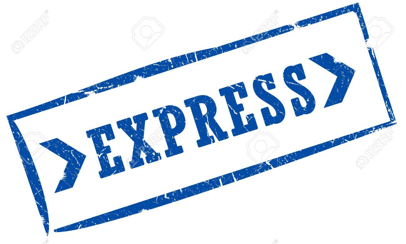 Express - Express Mail Stamp Stock Photo 6250911