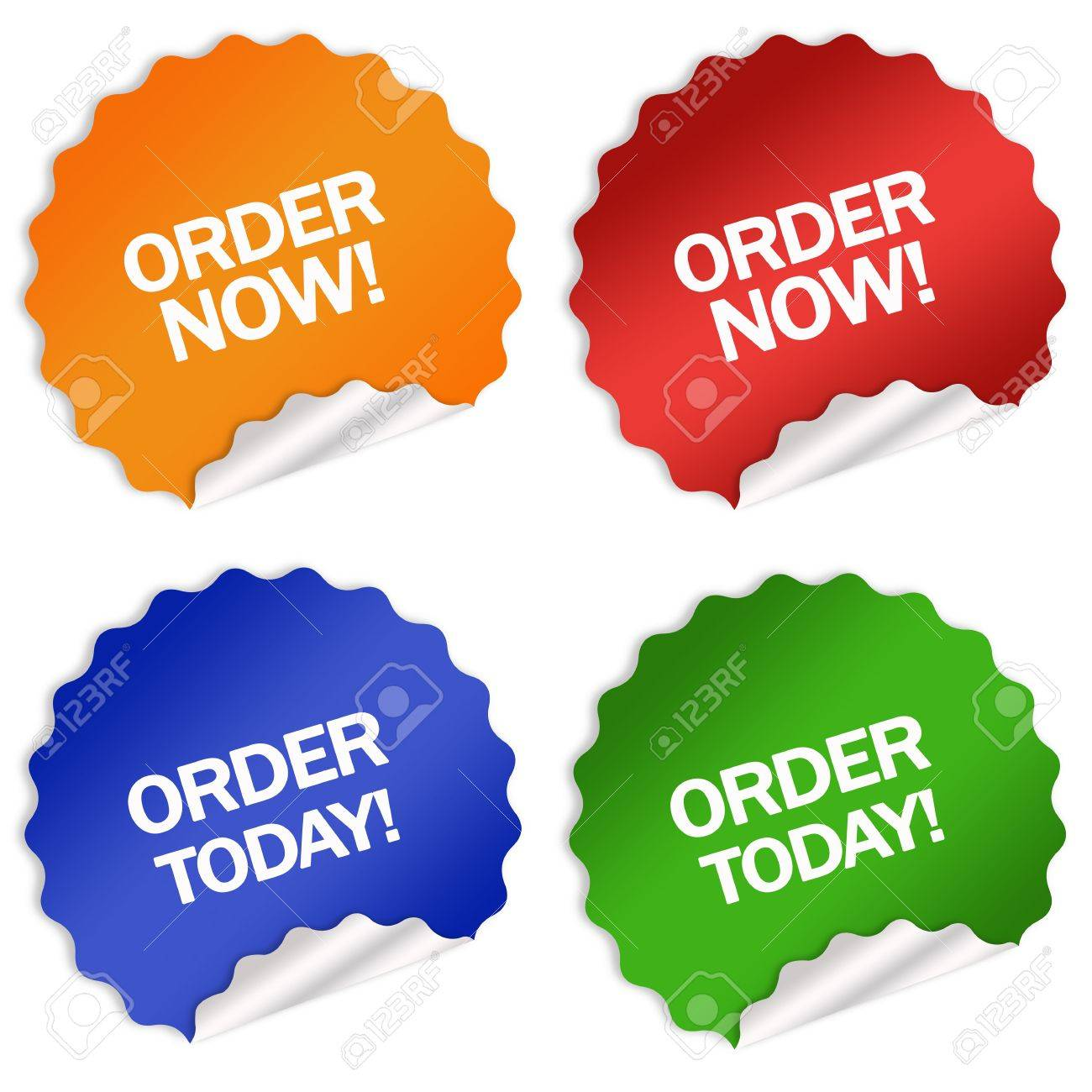 Order now today sticker Stock Photo - 6250914