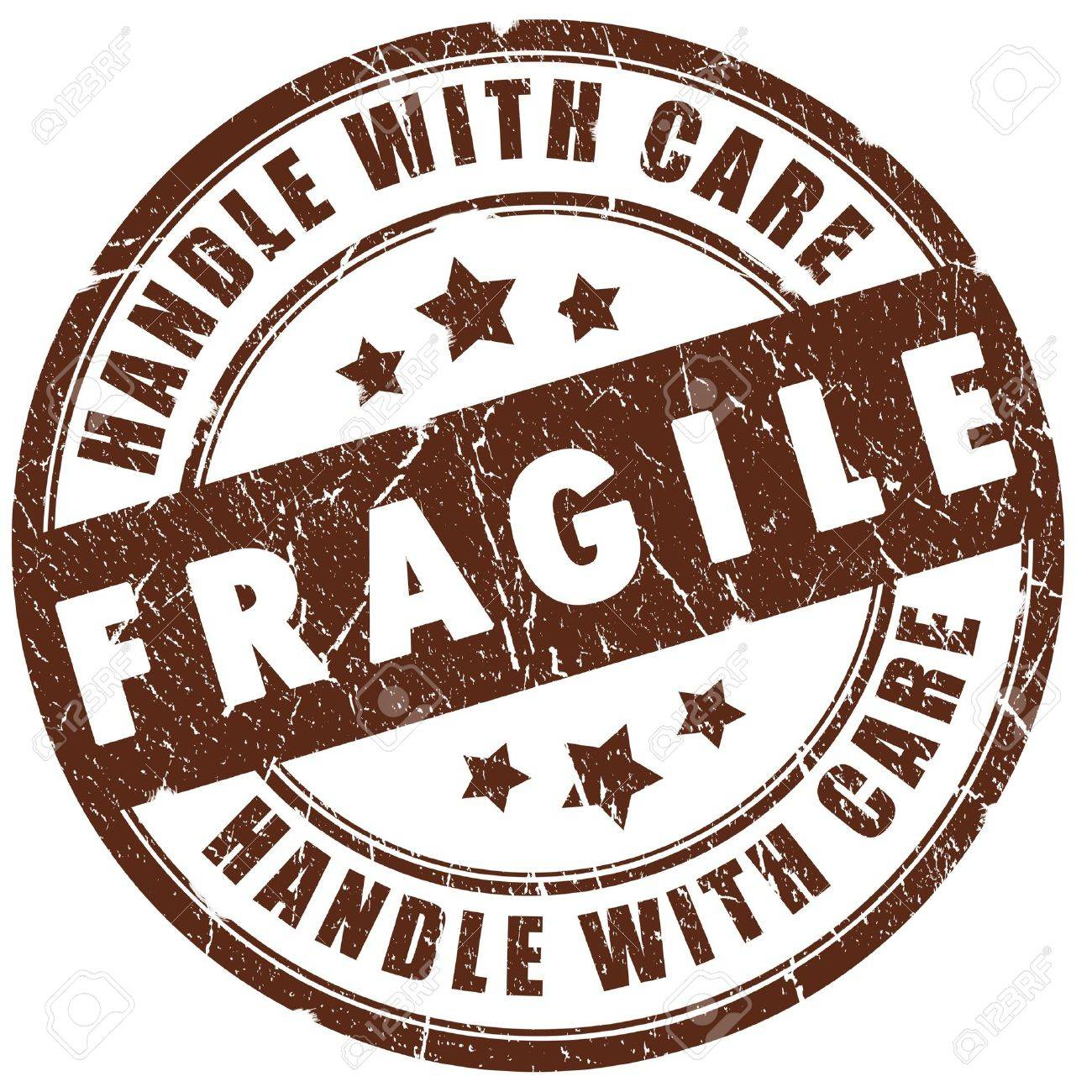 Fragile stamp Stock Photo - 6355754