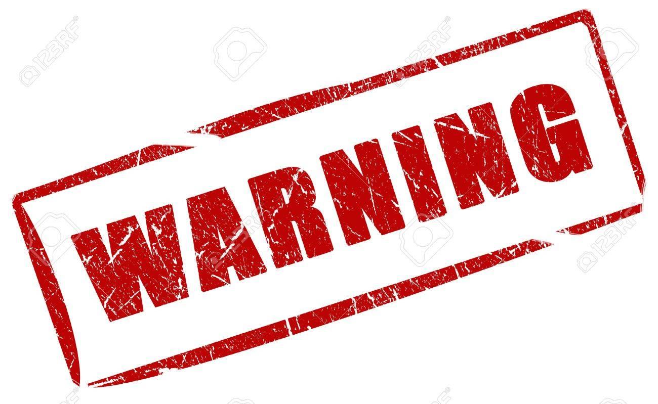 Warning stamp Stock Photo - 6597628
