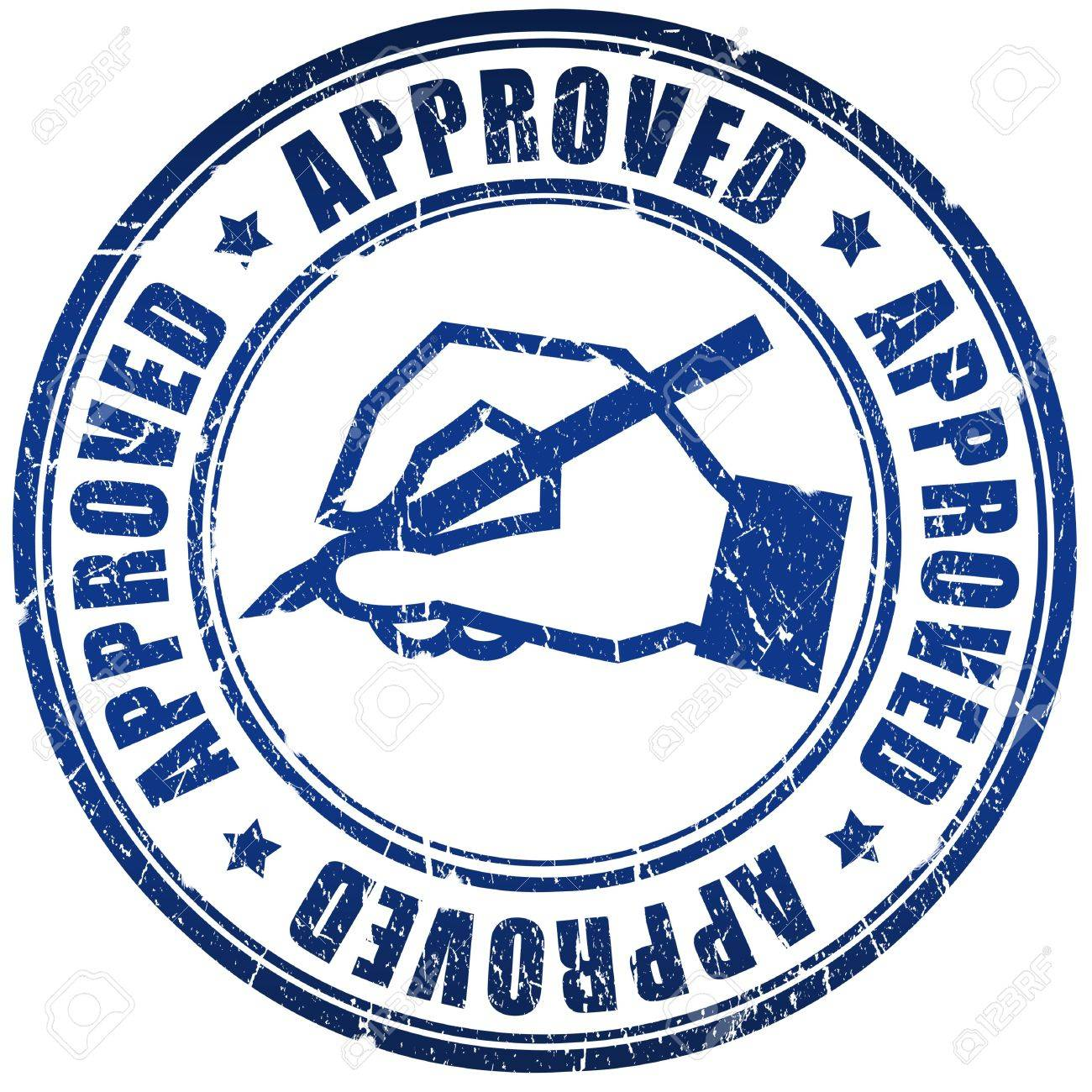 Approved stamp Stock Photo - 7014841