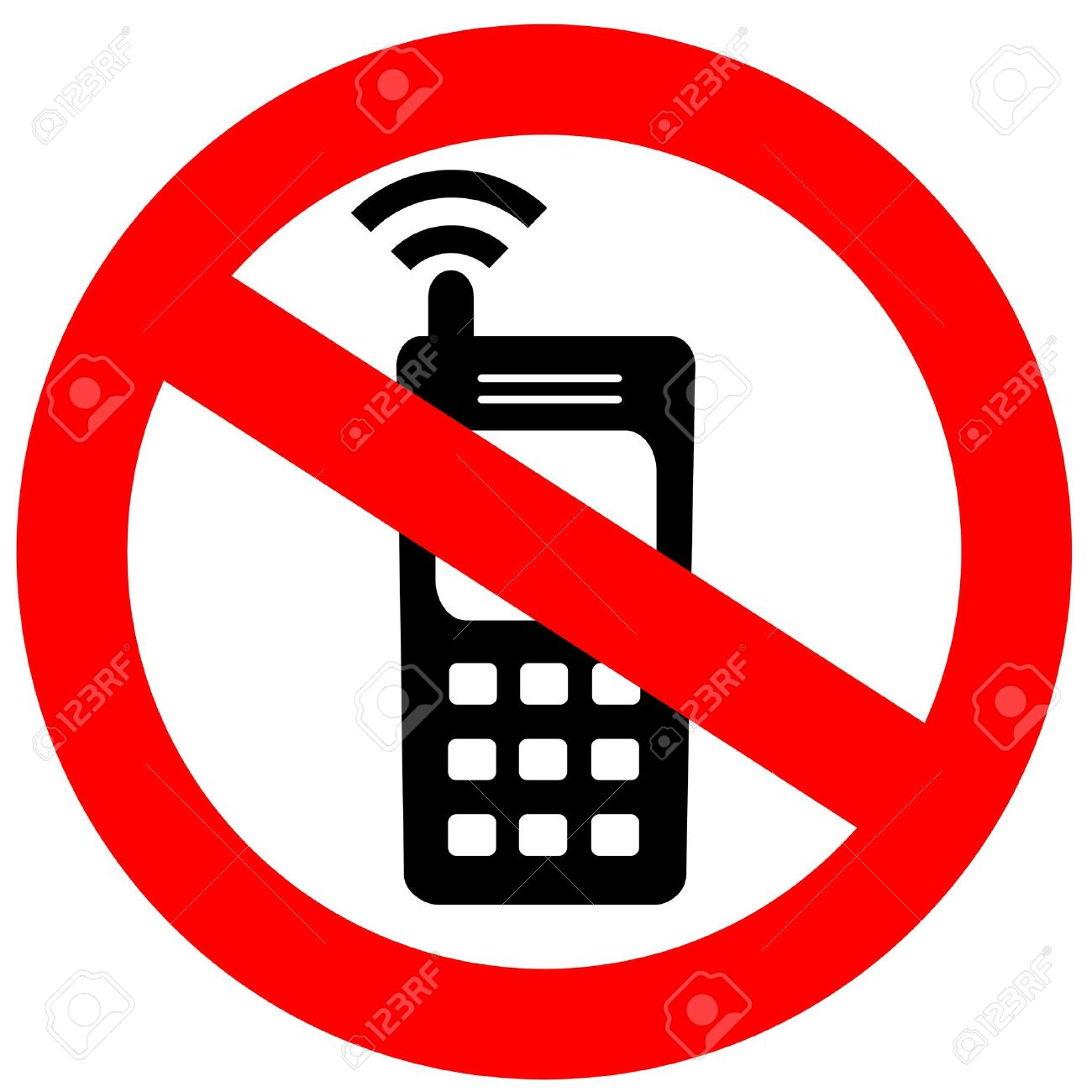 No Cell Phone Sign Stock Photo, Picture And Royalty Free Image ...
