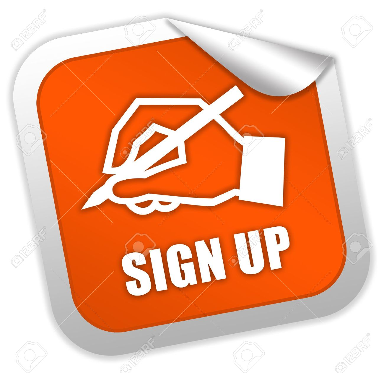Sign up icon Stock Photo - 7014844