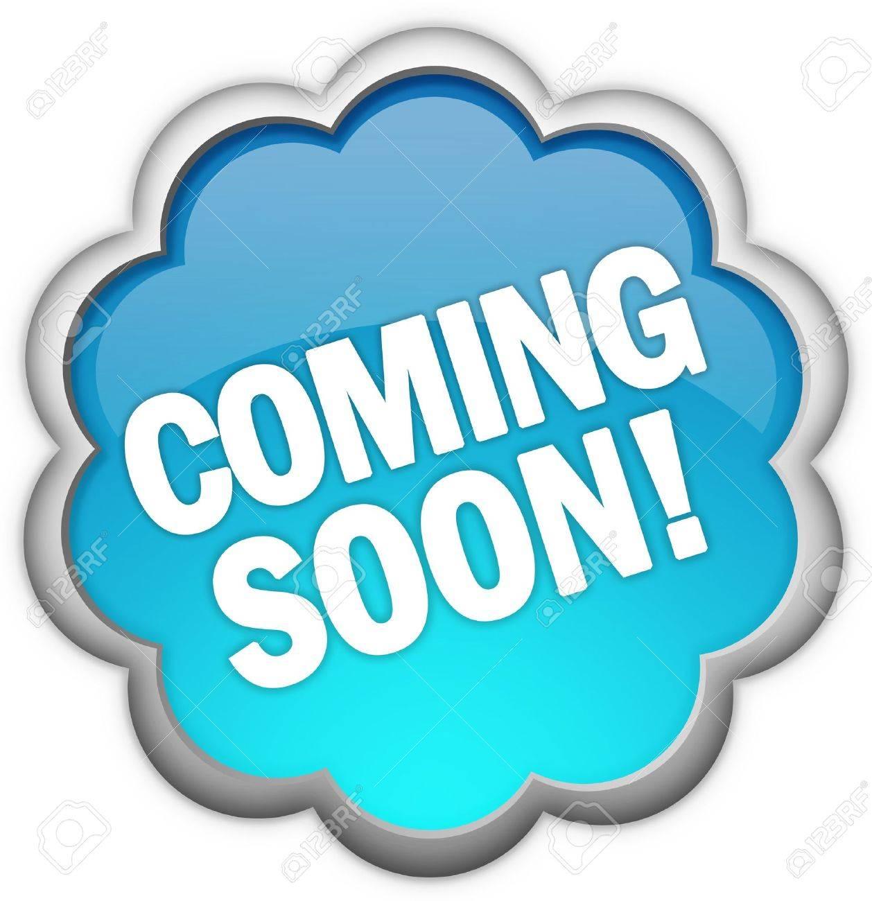 Coming soon icon Stock Photo - 7426707