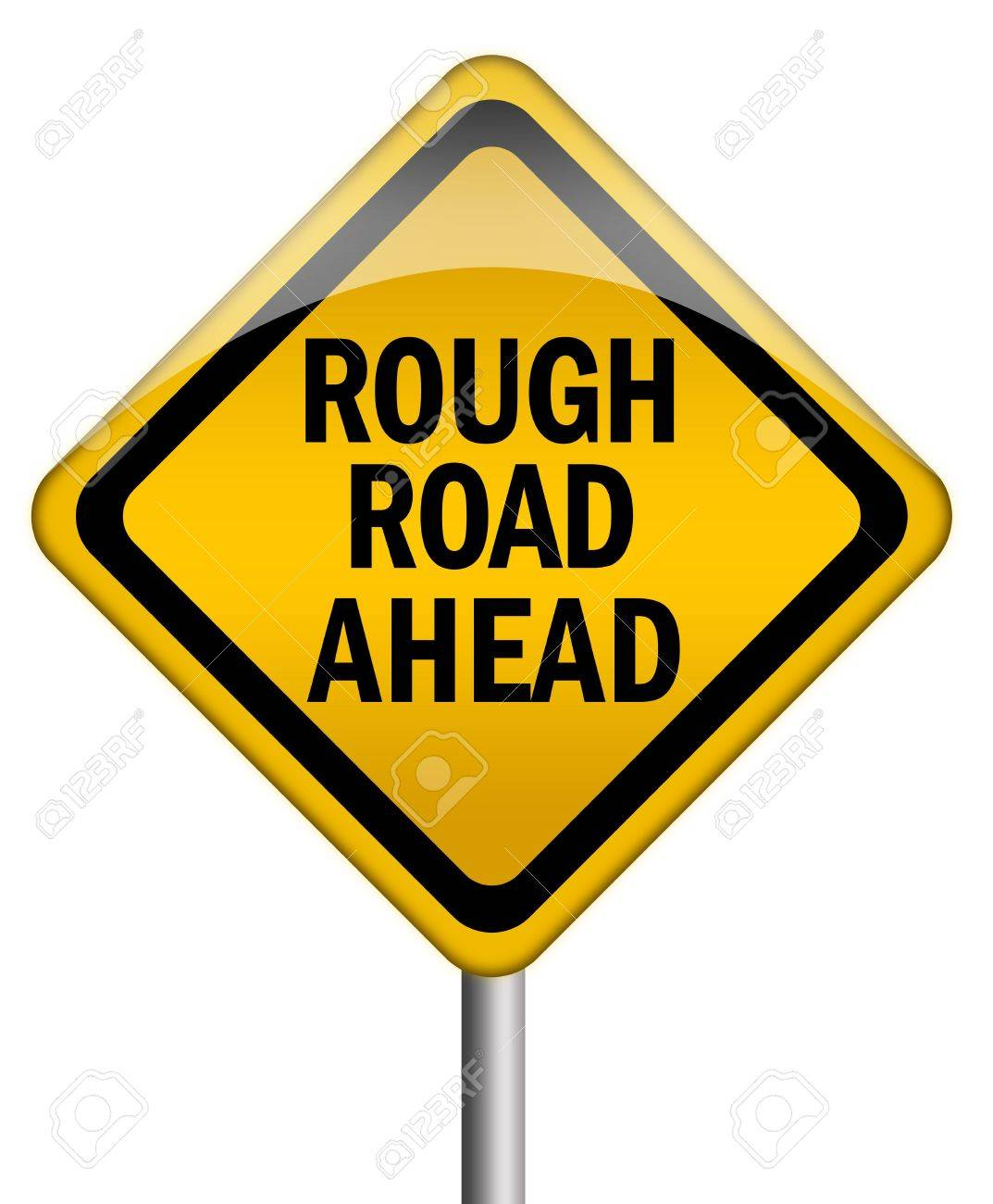 Rough road ahead sign Stock Photo - 7426711