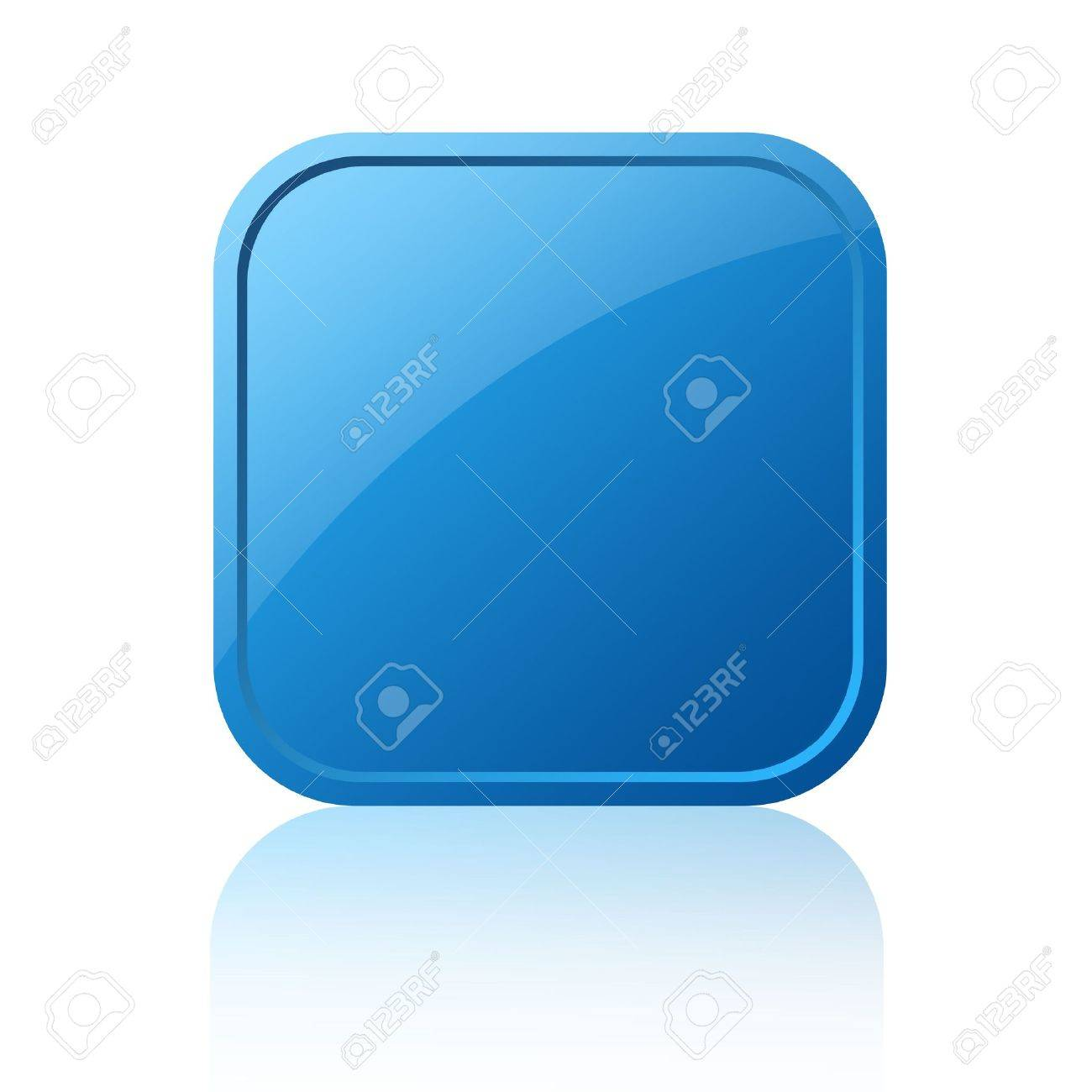 Blank square button Stock Photo - 8101079