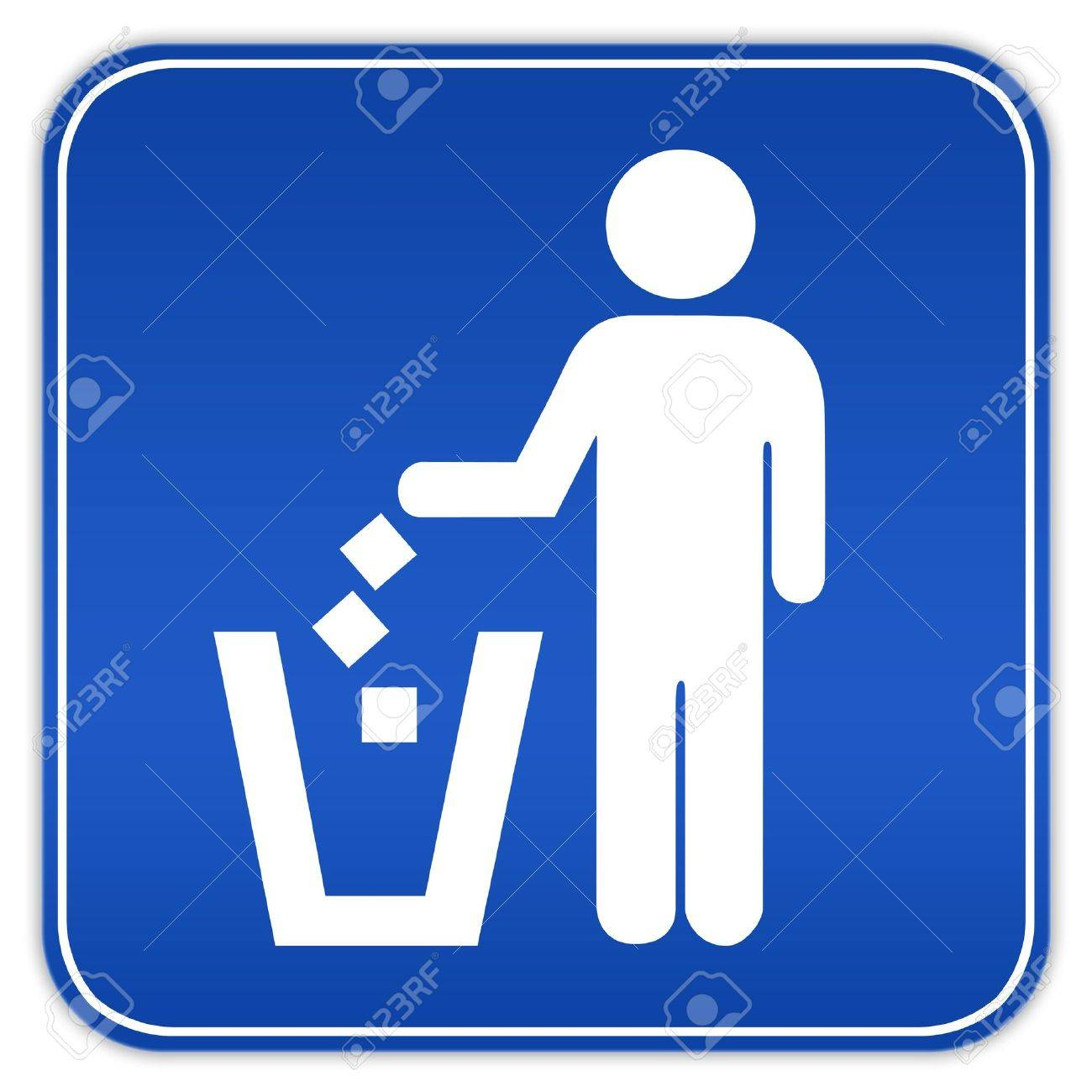 No littering sign Stock Photo - 8101074