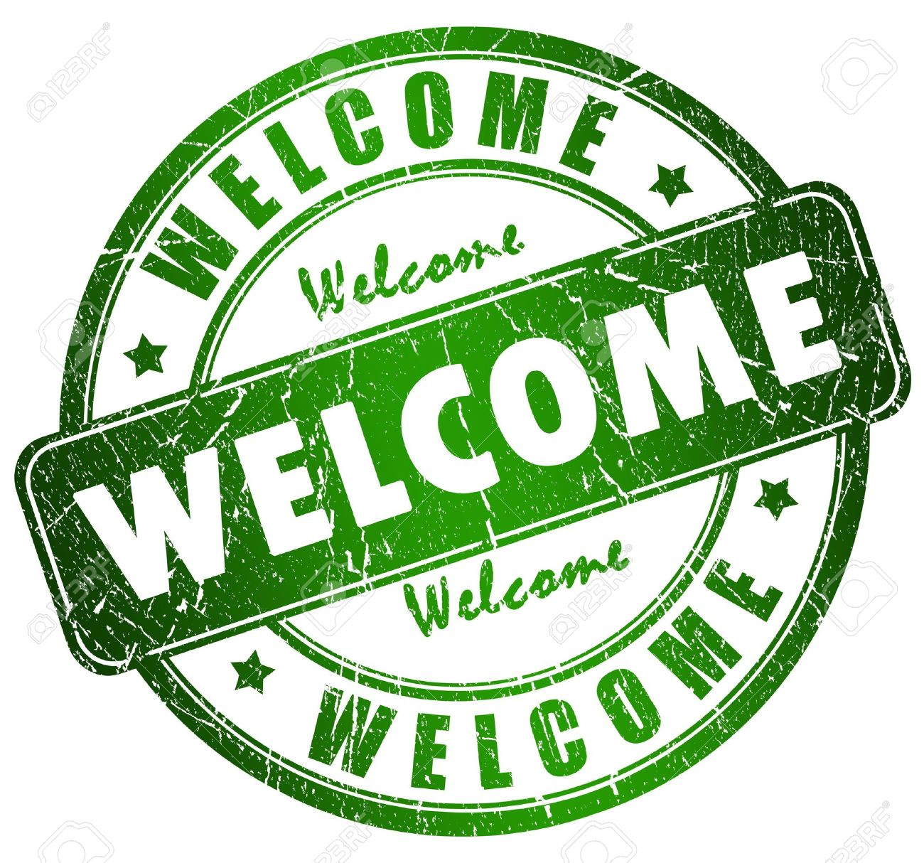 Welcome stamp Stock Photo - 8101105