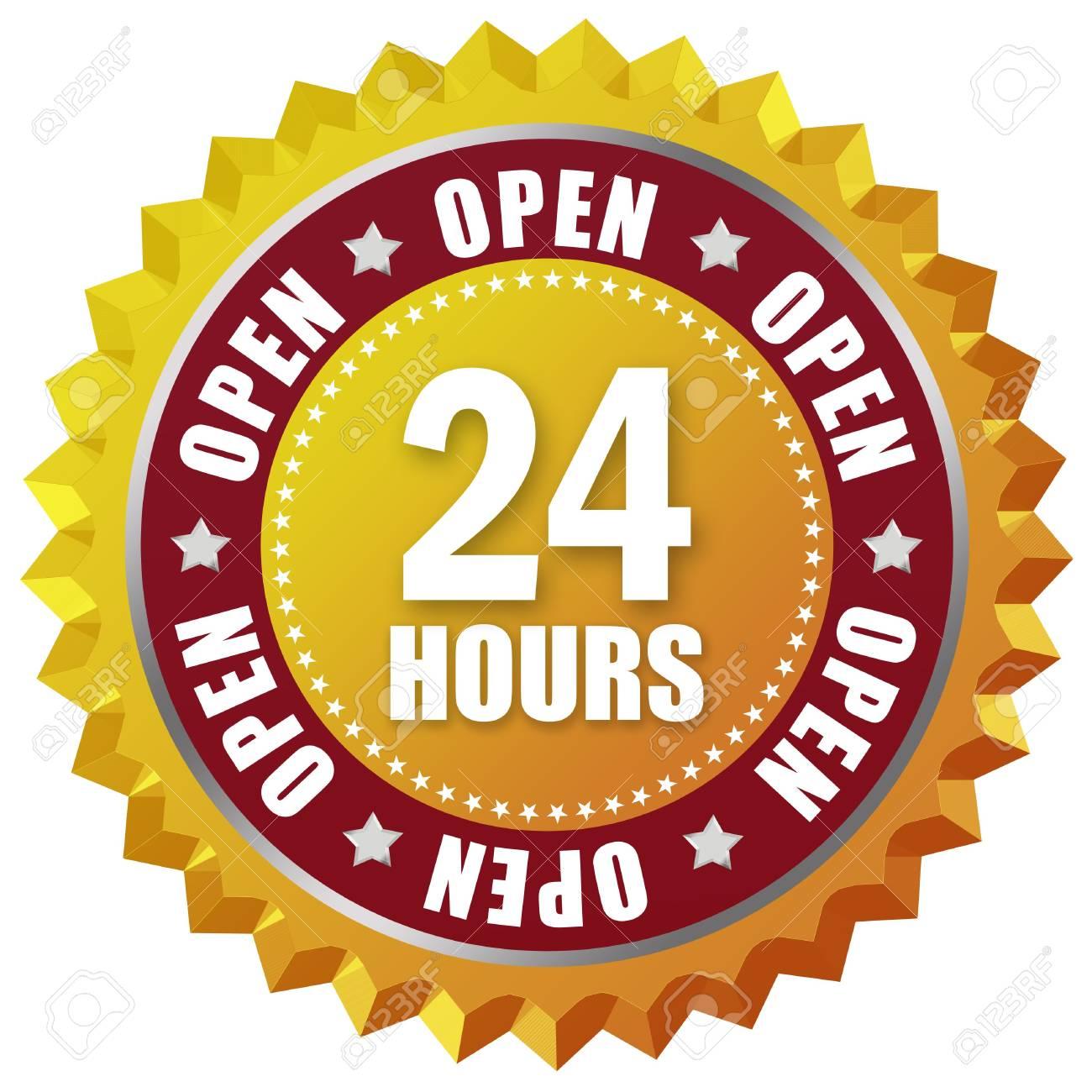 Open twenty four hour Stock Photo - 8157741