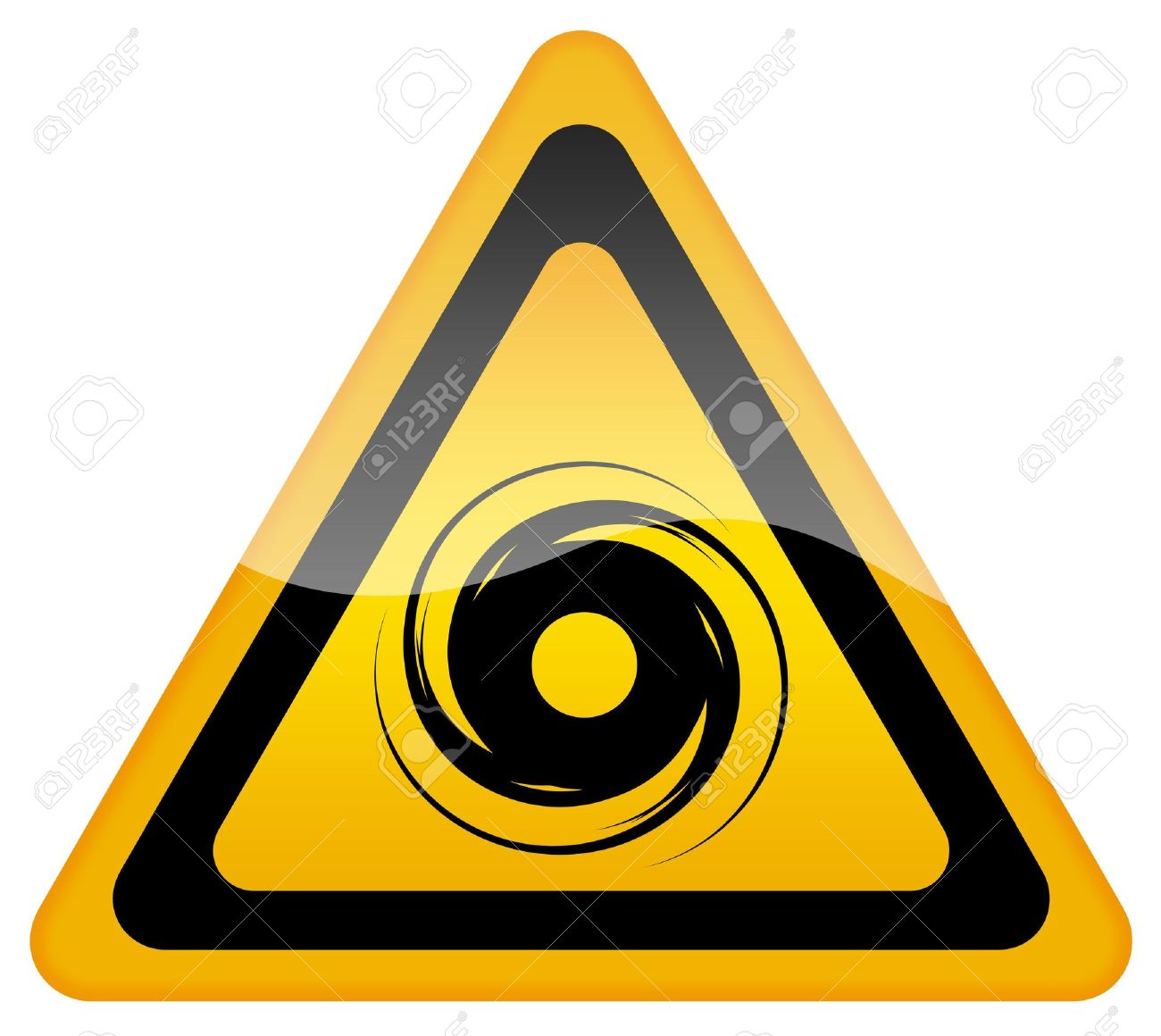 Hurricane Warning Sign Stock Photo Picture And Royalty Free Image