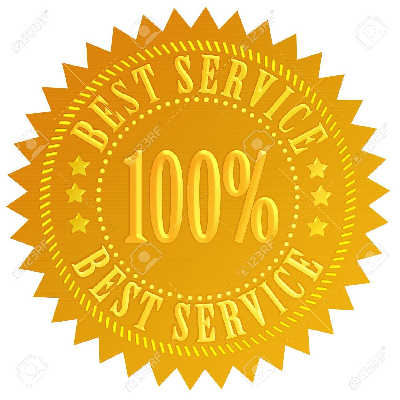 best service seal stock photo picture and royalty free image image