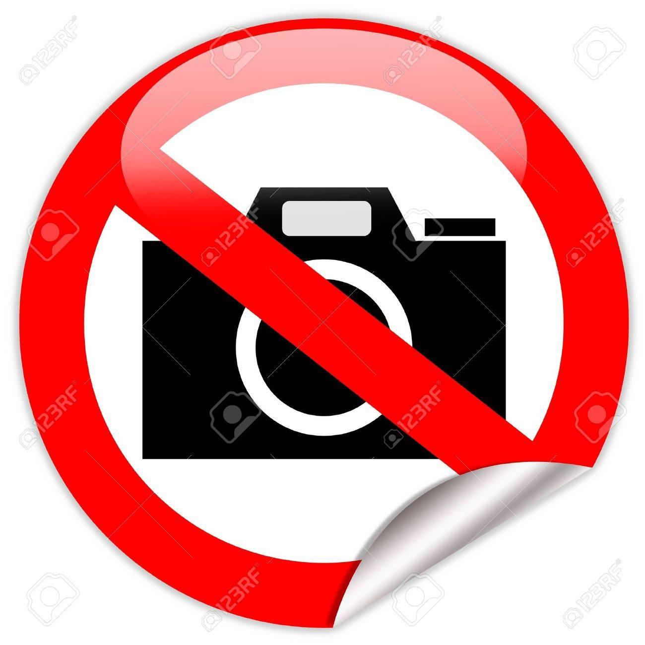 No photo camera shiny sign Stock Photo - 8222749
