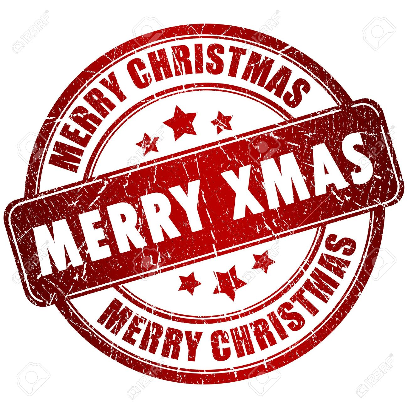 Merry Christmas Stamp Stock Photo, Picture And Royalty Free Image ...